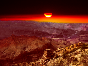 Gand Canyon Solnedgang
